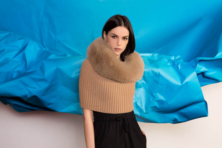 L413 04 01 giovi accessories fur brown - Fall Winter 2019-20