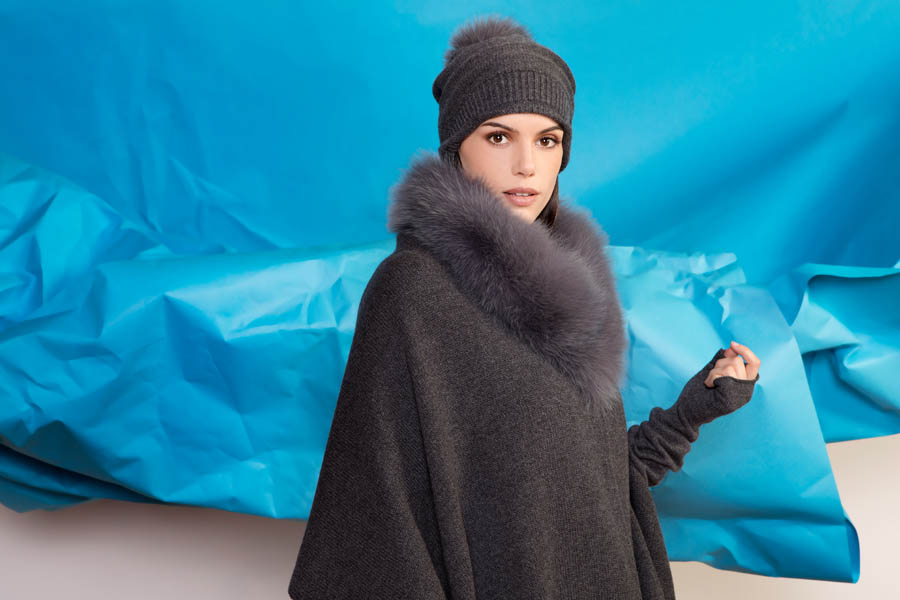 L416 97 03 giovi accessories fur grey - Fall Winter 2019-20