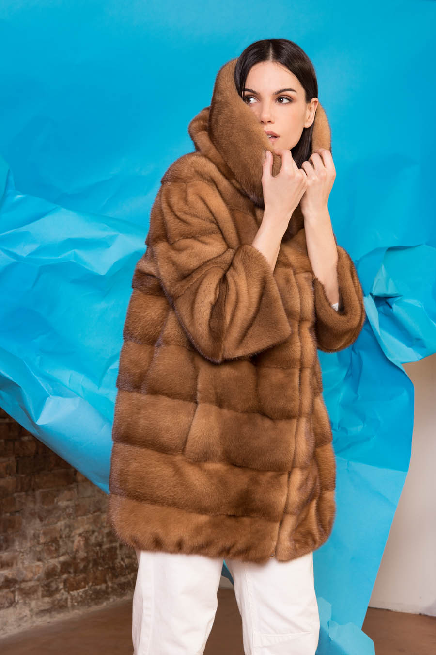 07 P1904V 95 01 giovi pelliccia fur brown - Fall Winter 2019-20