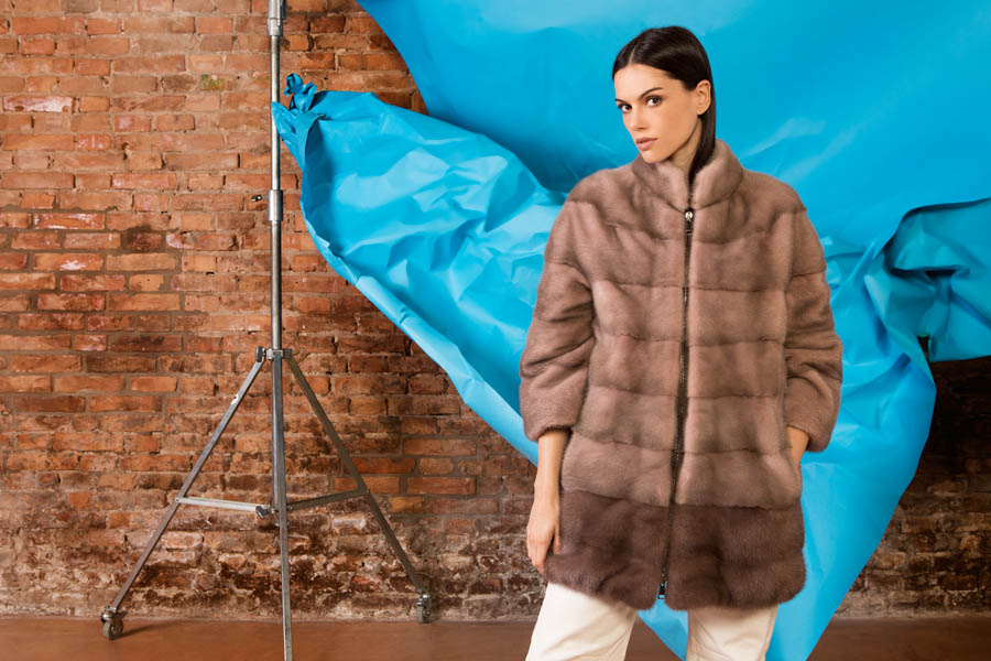 09 P1703V 10 01 giovi pelliccia fur brown - Fall Winter 2019-20