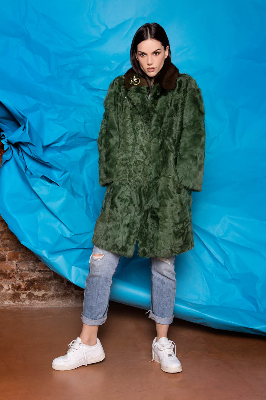 22 P1905T 88 02 giovi pelliccia fur green - Fall Winter 2019-20