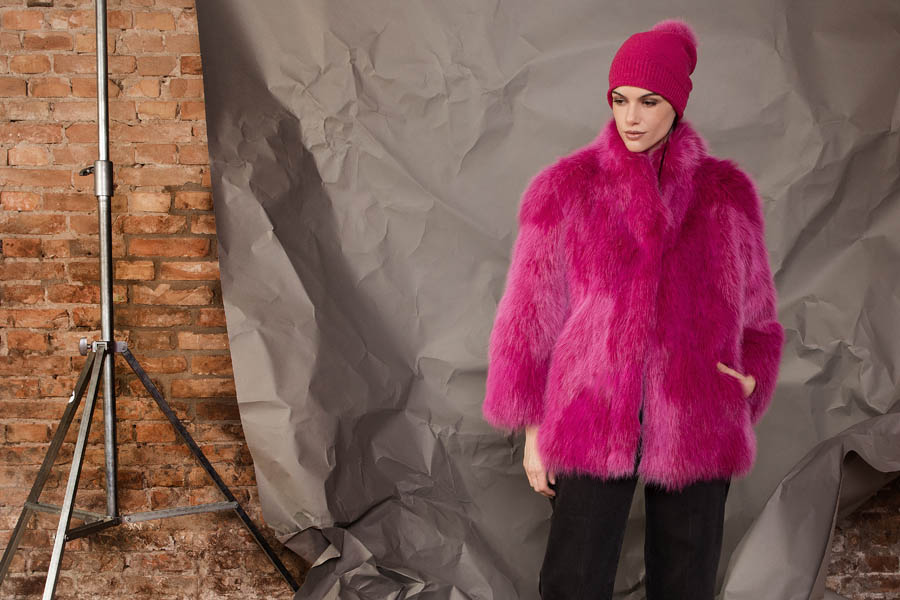 36 P1909VO 86 01 giovi pelliccia fur magenta - Fall Winter 2019-20
