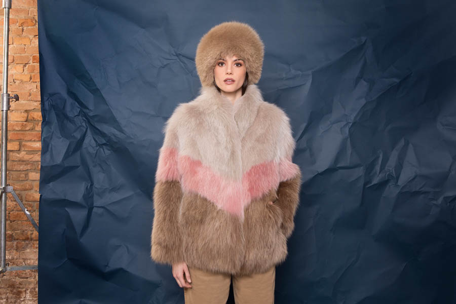 42 P1910VO 103 01 giovi pelliccia fur sand pink brown - Fall Winter 2019-20