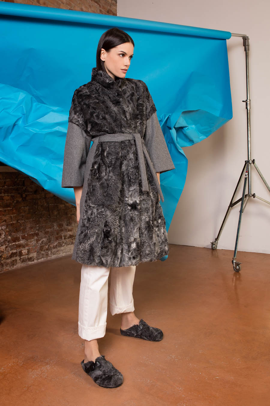 59 P1714P 03 01 giovi pelliccia fur grey - Fall Winter 2019-20