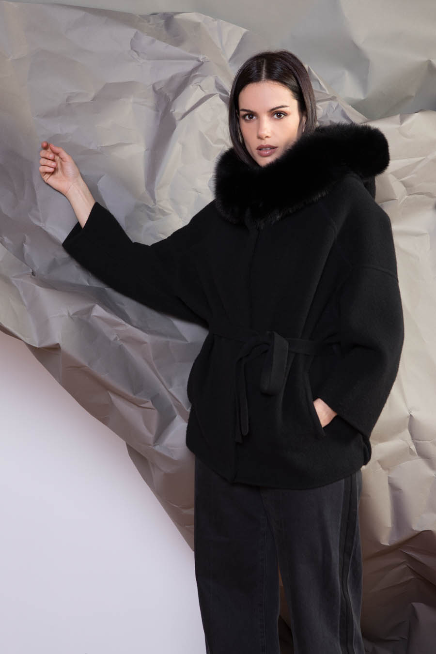 65 P1919 99 01 giovi pelliccia fur black - Fall Winter 2019-20