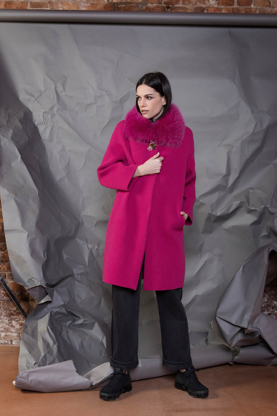 68 P1921 86 01 giovi pelliccia fur magenta - Fall Winter 2019-20