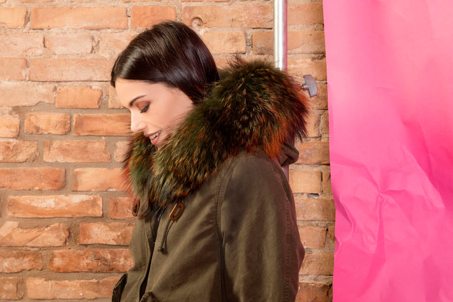 PK19260C 9494 01 gold rush woman parka fur green - Fall Winter 2019-20