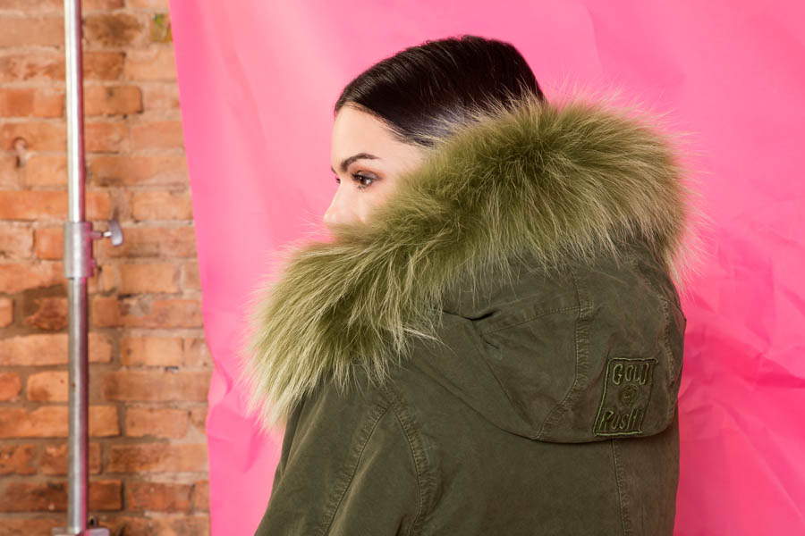 PK19263C 9488 01 gold rush woman parka fur green - Fall Winter 2019-20