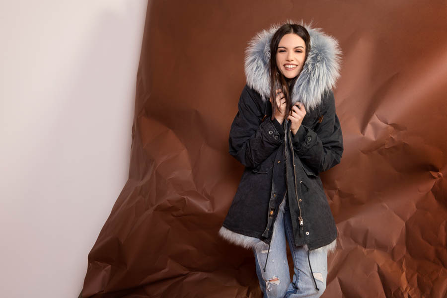 PK19263C 9616 01 gold rush woman parka fur blue - Fall Winter 2019-20