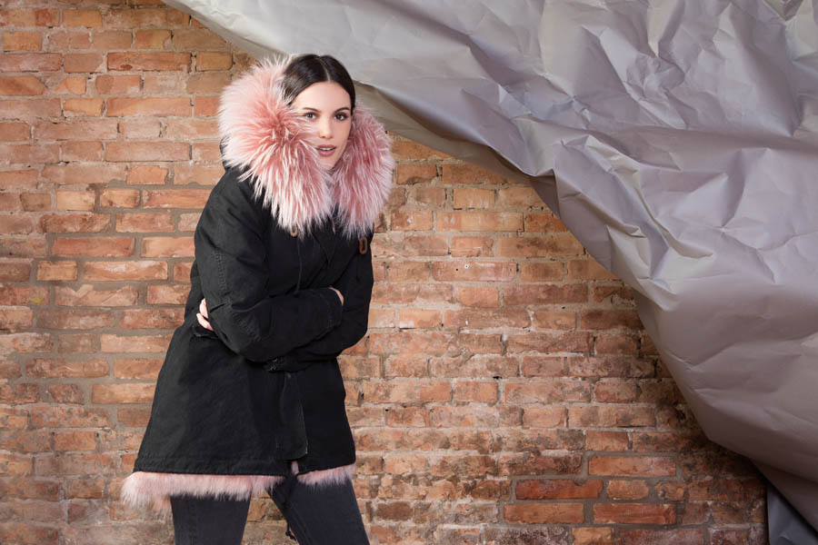 PK19263C 9910 02 gold rush woman parka fur black pink - Fall Winter 2019-20