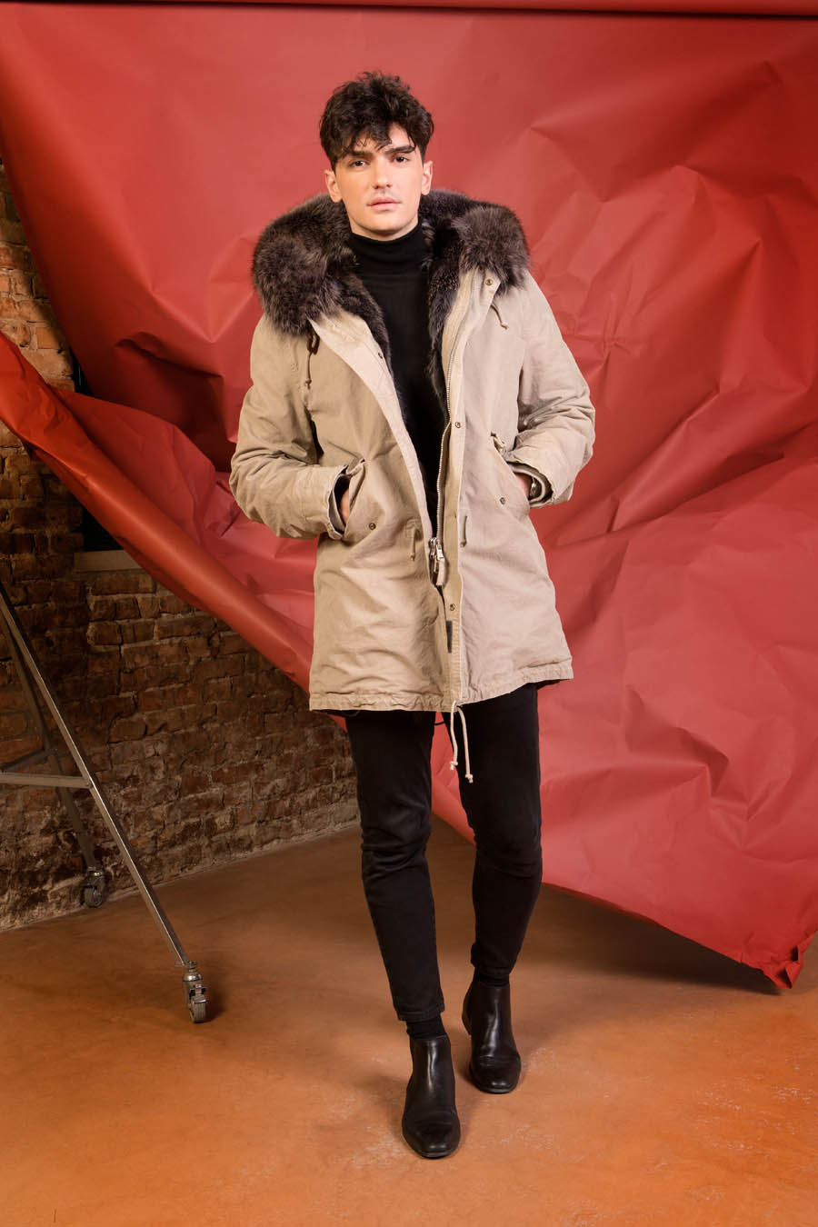 PK19300VO 0297 02 gold rush man parka fur brown - Fall Winter 2019-20