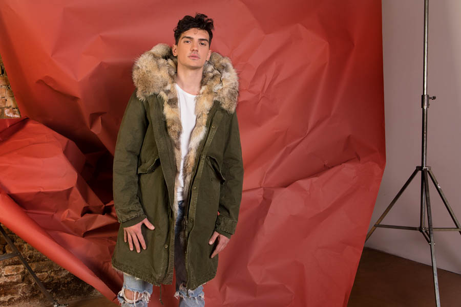 PK19301VO 9400 03 gold rush man parka fur green - Fall Winter 2019-20