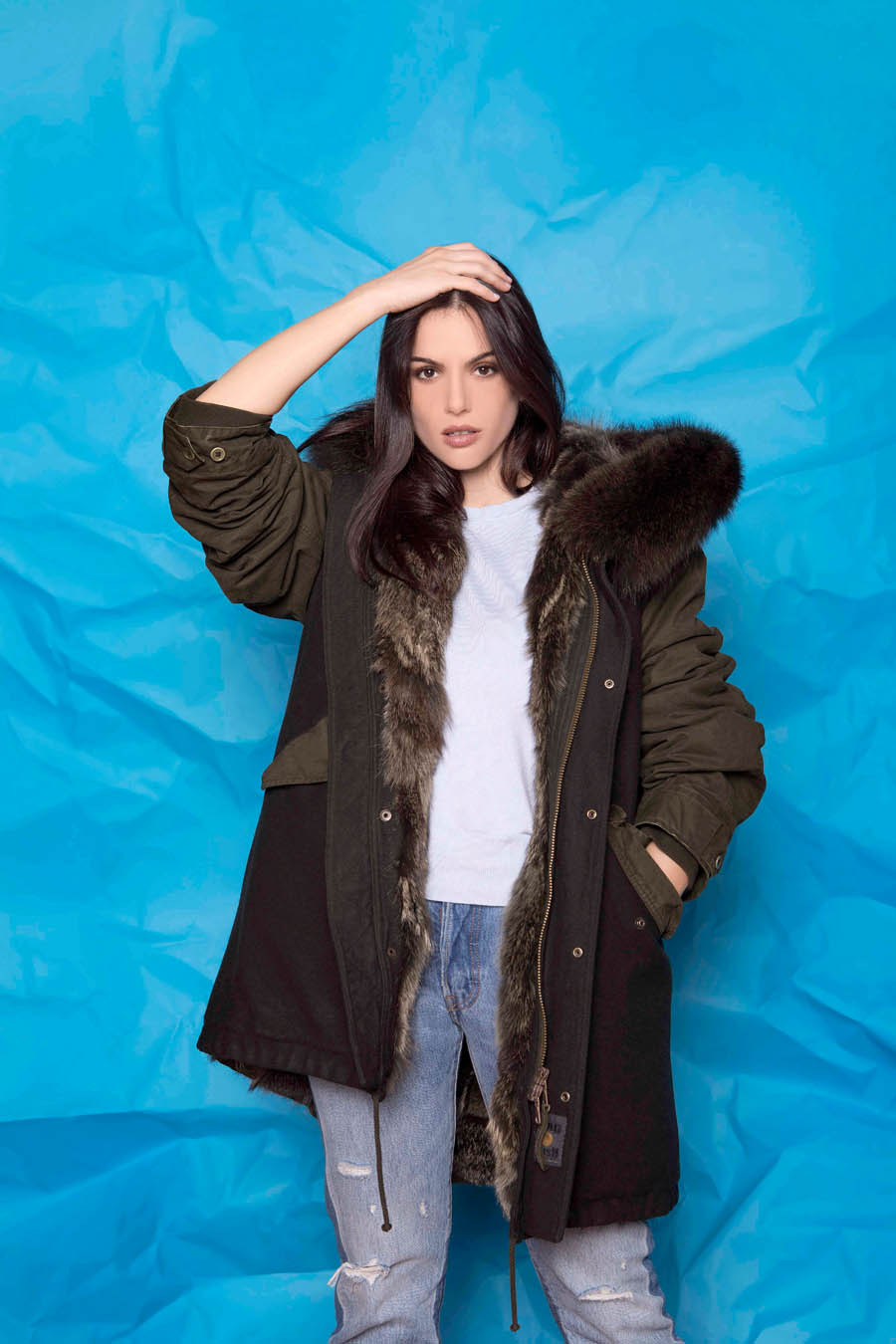 PK19303VO 9494 01 gold rush woman parka fur green black - Fall Winter 2019-20